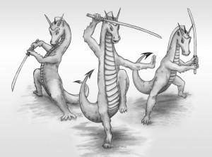 Warrior dragons